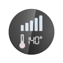 Manual temperature regulation possible with 9 temperature settings